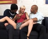 Busty blonde Cherry Torn loves interracial sex