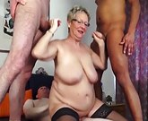 GanzGeil –  Group Sex with lustful German Granny