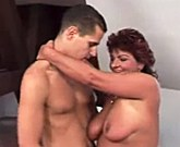Lusty Grandmas – Divorced mom takes a young cock
