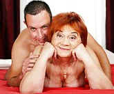 Lusty granny Marsha gets all wet fantasizing about young men!