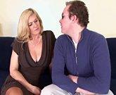 Mature blonde slut Marina Rene anal fucking