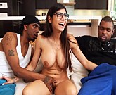 Monsters Of Cock – Mia Khalifa fucks with two black men Rico Strong and Charlie Mac