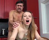 Old-n-Young – Older man gives cums on fresh tits