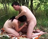 VODEU.com – Pretty brunette girl fucked outdoors