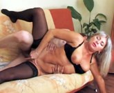 Young boy wake up a delious blonde MILF with big tits