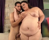 BBW Bella Bendz with huge breasts rides his fat dick in many positions