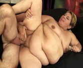 A grey-haired guy sticks his big dick in fat latina's warm mouth and pussy