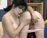 Mom and Teen with big tits in lesbian sex