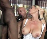 Hubby brings home a big black cock to teach his sexy wife how to give a proper blowjob