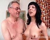 Real German Porn – Grandpa Helmut fucks a young brunette