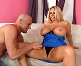 Big boobed blonde milf gets drill her pussy with his fat dick and cum in her mouth