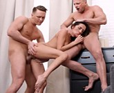 Young Sex Parties – Double Penetration for gorgeous brunette girl