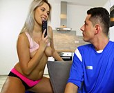 Horny blonde Nikky gets what she wants