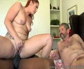 Sexy Redhead Edyn Blair Gets Fucked By Big Black Cock While Husband Watches